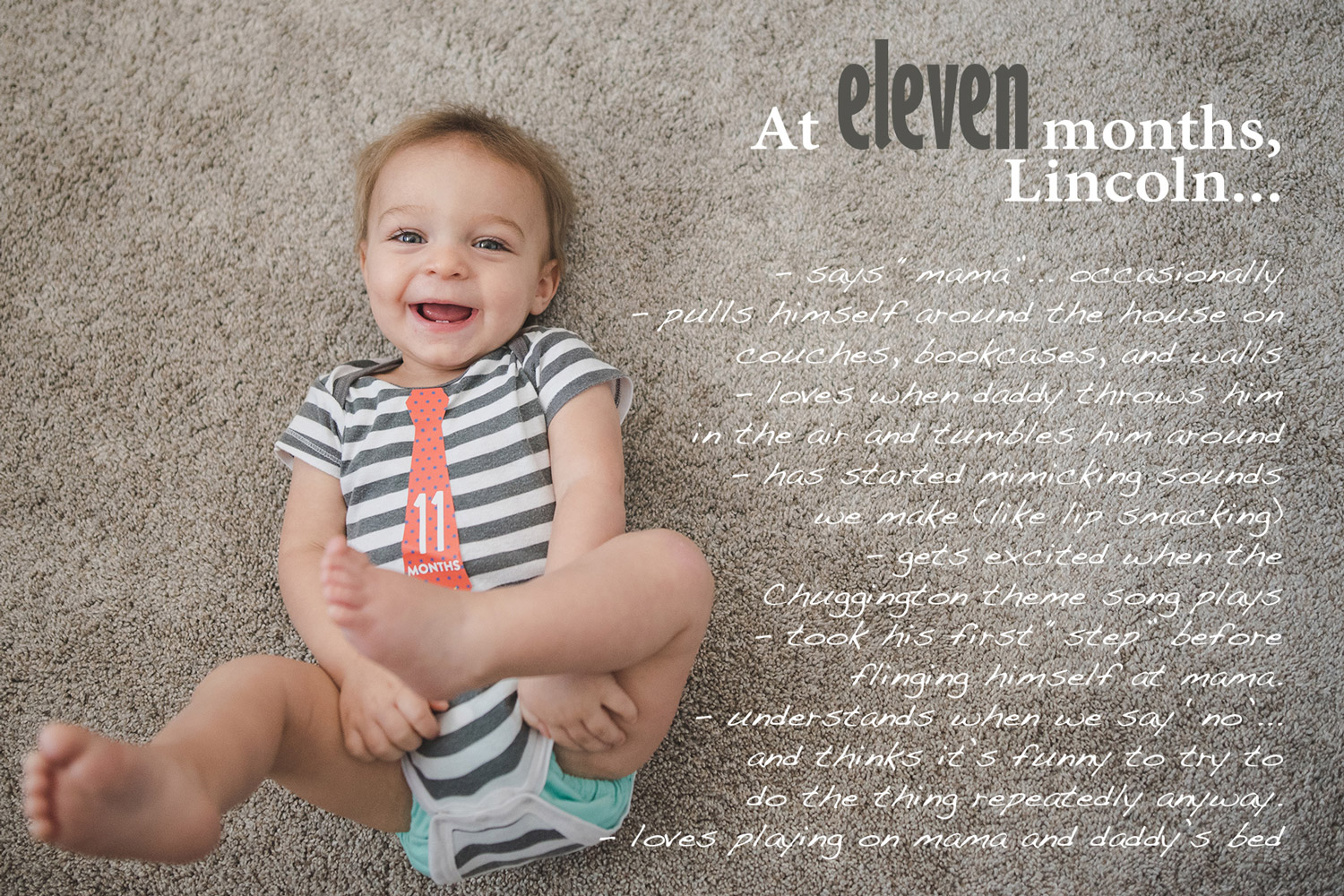 Baby book photos with overlay