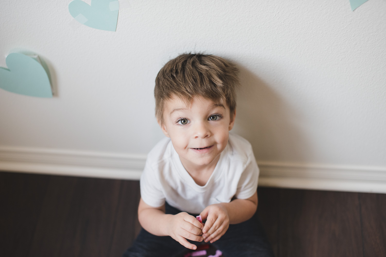 My adorable toddler boy on Valentine's Day