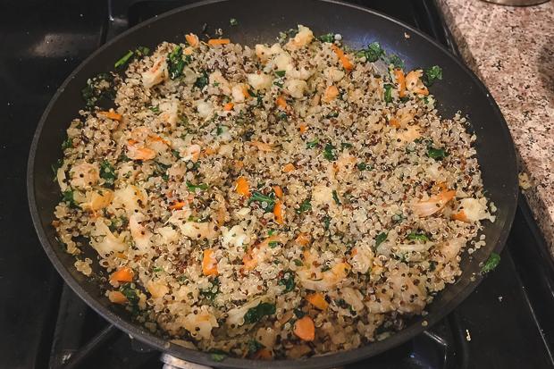 Shrimp quinoa and spinach dinner recipe_Blog