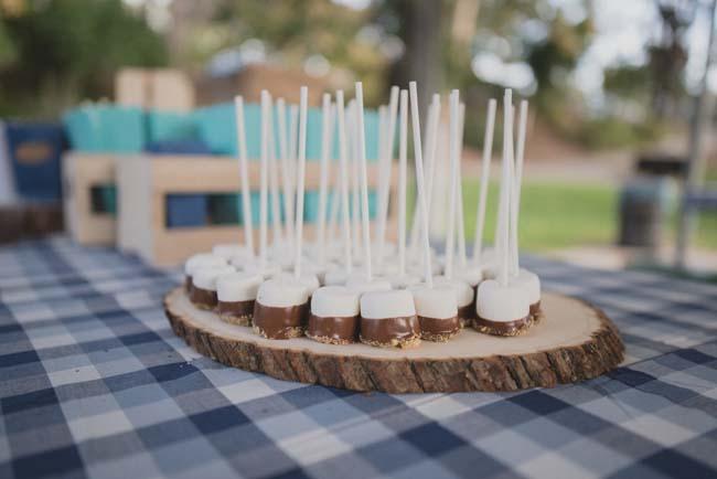 Marshmallow cake pops smores