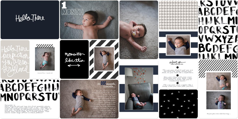 Digital scrapbook page using Project Life kits from Liz Tamanaha