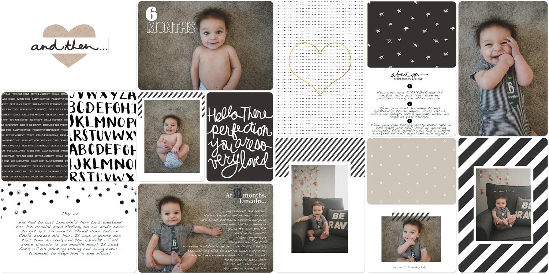 Baby book digital scrapbook 6 months old
