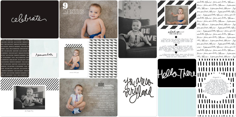 Baby book digital scrapbook 9 months old