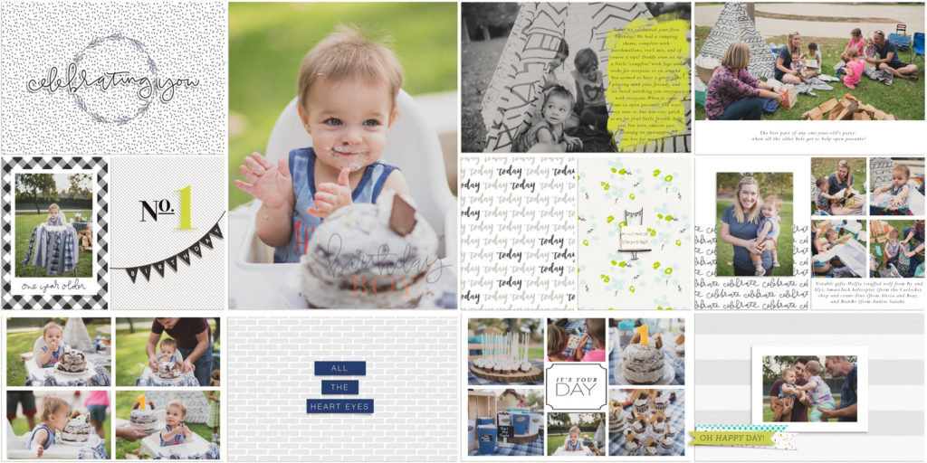 Scrapbook Page: Lincoln's 1st Birthday Campout