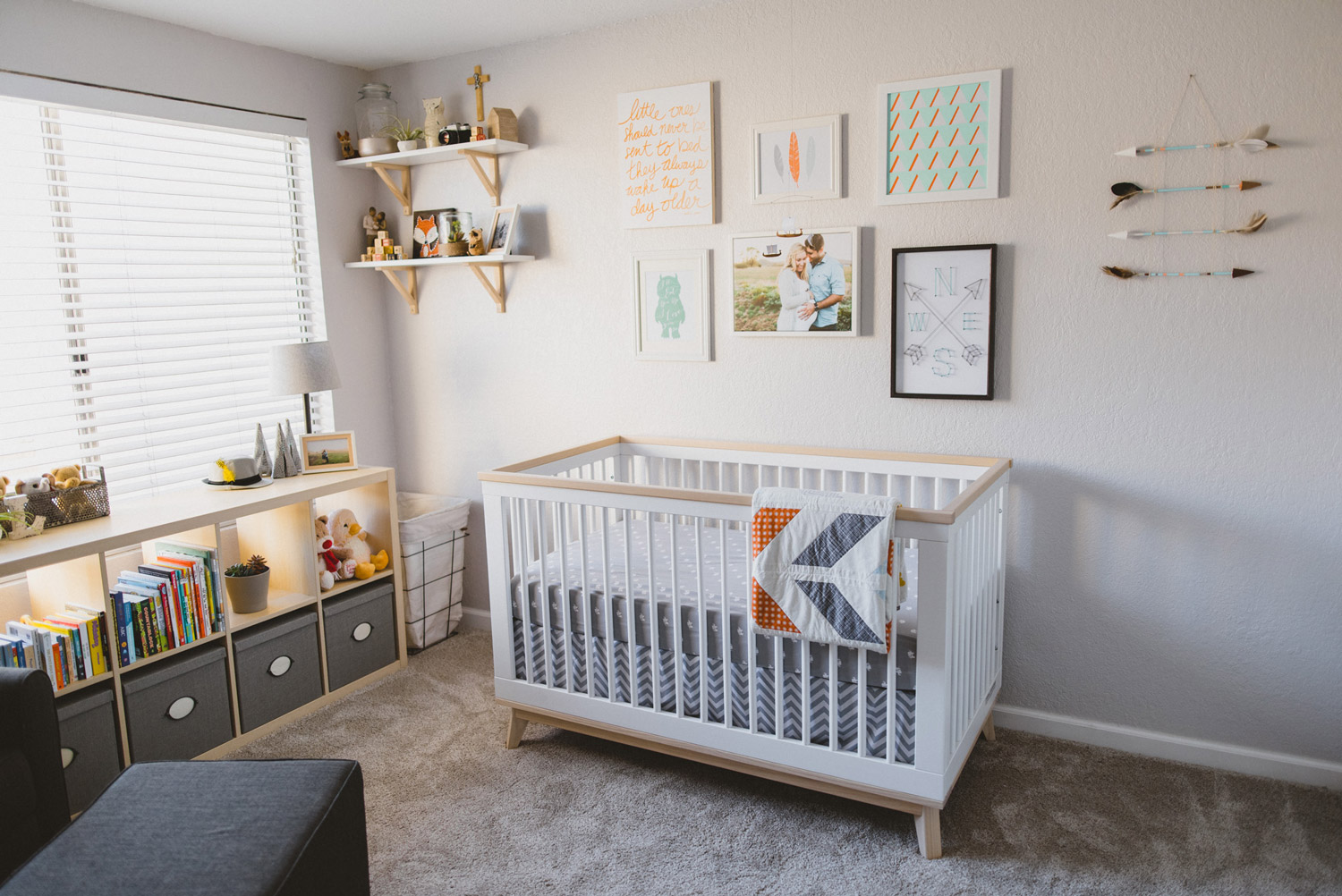 Woodland and adventure themed baby nursery